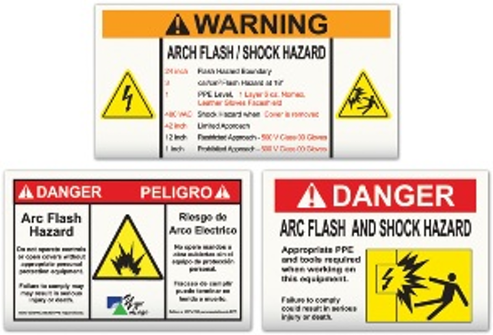 Arc Flash Hazard Signs and Labels