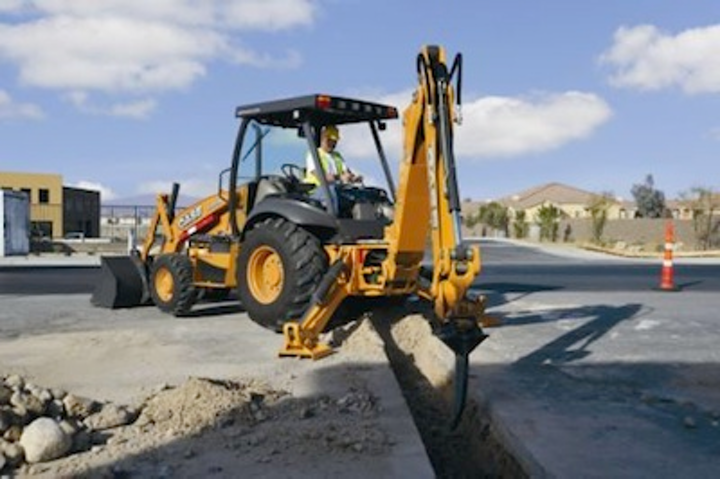 loaders and backhoes
