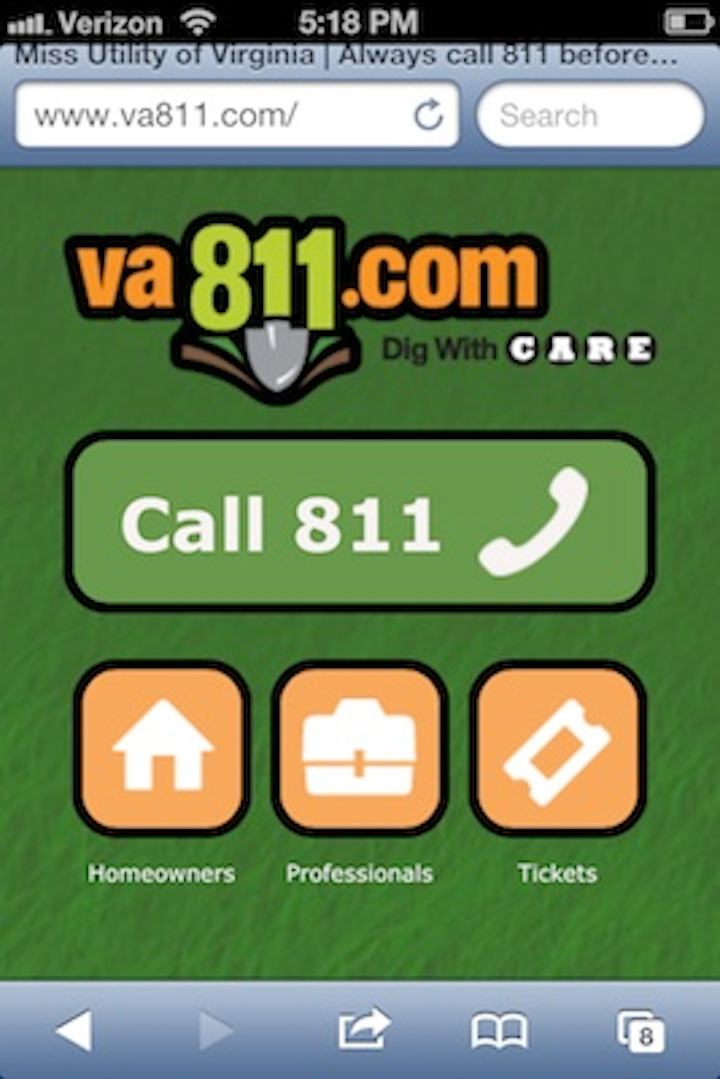 Utility Safety Virginia Utility Protection Service Launches Va811 Com Mobile Site For Excavating Utility Products Miss dig system awards & accolades. virginia utility protection service
