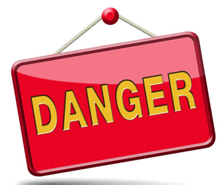 Veszély ikon vagy veszélyes jel 52712194