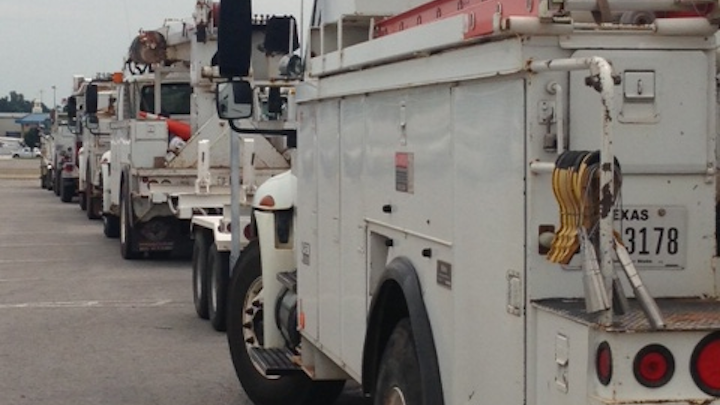 Utilities and contractors from Texas are helping with the effort.