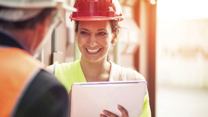 1604upfea Schneider P04   Utility Worker On Tablet