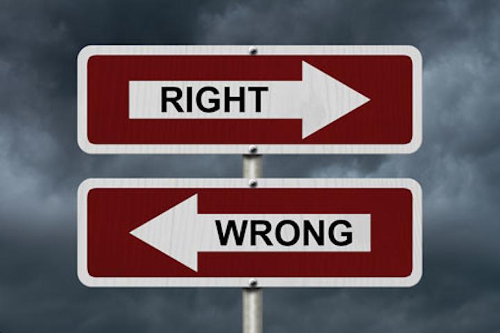 Bigstock Right Versus Wrong 96442700