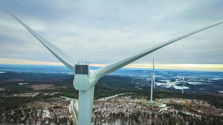 Mont Sainte-Marguerite Wind Turbine photo courtesy of Pattern Energy