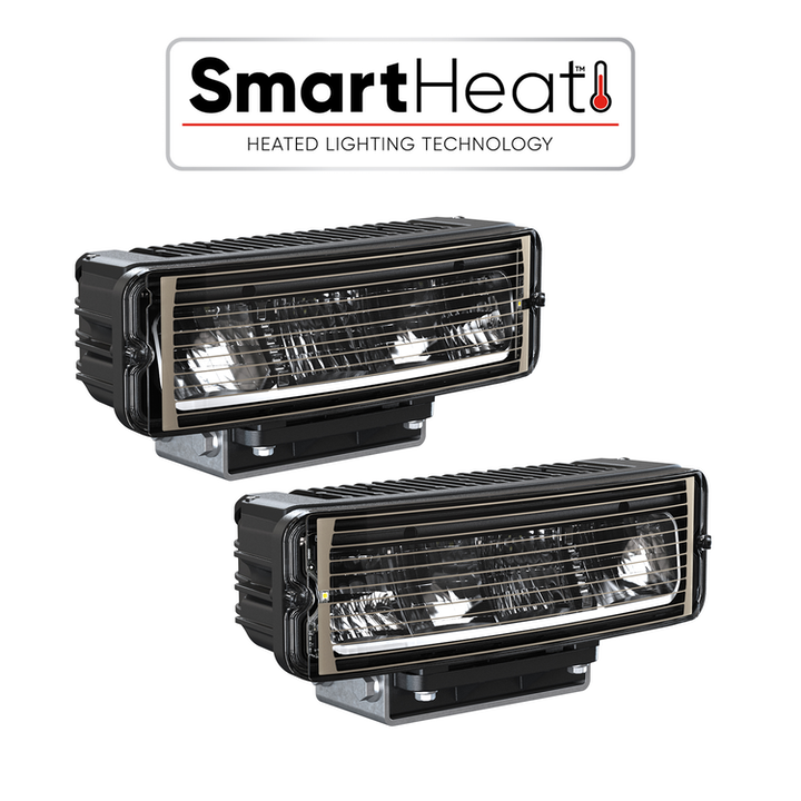 Content Dam Up Online Articles 2019 04 Up Led Headlight Model 9800 Heated Hs Left Hand And Right Hand Combined 34 View With Smartheat Logo