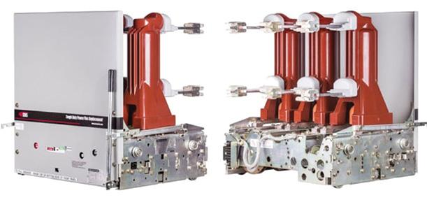 Remanufactured replacement vacuum circuit breaker.