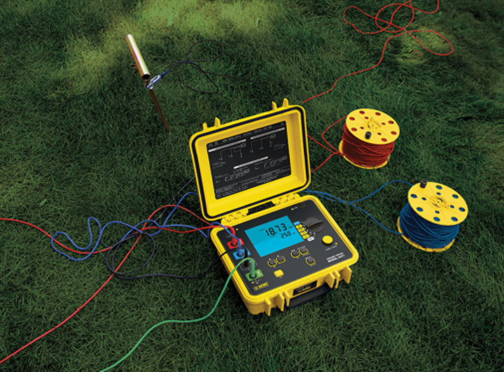 A ground resistance test instrument capable of testing using four electrodes (commonly referred to as a four-point or four-pole tester) will help locate the area of lowest soil resistivity.