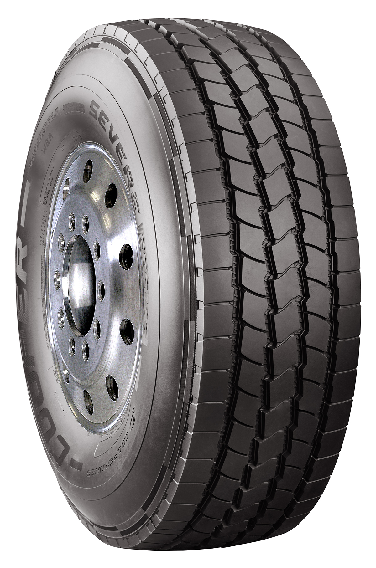 Cooper's new SEVERE Series WBA commercial truck tire provides long miles to removal while handling the harsh operating conditions found in construction truck applications.