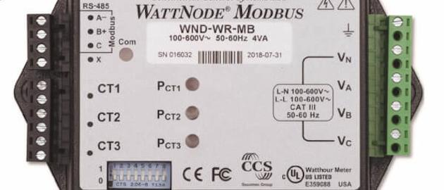 Wattnode Wide Range Modbus Power Meter Product Image New Flag 600x523